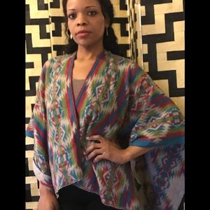 ASOS Aztec print poncho cape